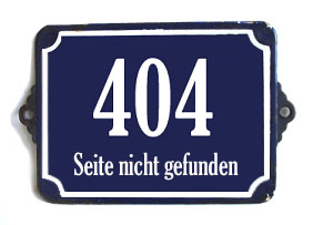 Error 404 - Seite nicht gefunden